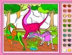 """раскраска """"Юрский период. Раскраска с динозаврами"""""""