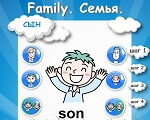 "Learning English words. The topic ""Family"""