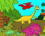 Раскраска Динозавры №1
