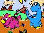 Раскраска Динозавры №3