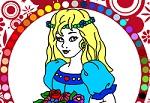 """Раскраски для девочек онлайн """"Принцесса"""""""