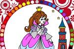 "Раскраски для девочек онлайн ""Принцесса Незабудка"""