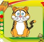 "Раскраски с животными ""Тигр"""